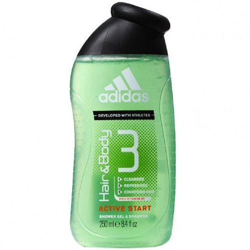 Adidas Sprchový gel a šampon pro muže 3 v 1 Hair & Body Active Start 400 ml