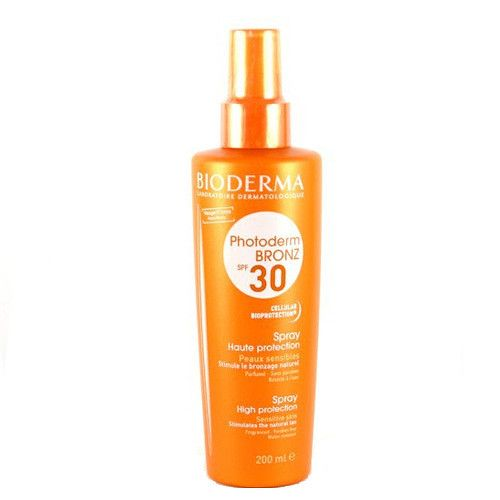 XXL obrazek Bioderma Sprej pro citlivou pleť SPF 30 Photoderm Bronz (Spray Hight Protection) 200 ml