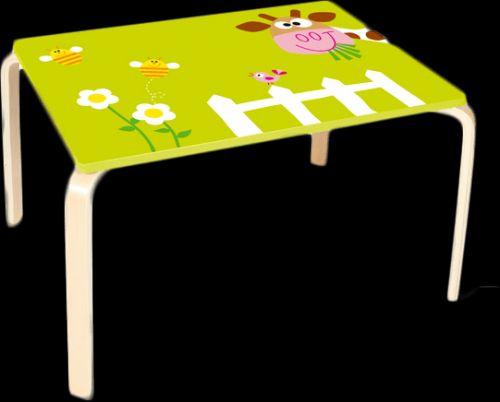 SCRATCH Dřevěný stůl Kravička