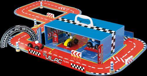 VILAC Závodní dráha s auty v kufříku