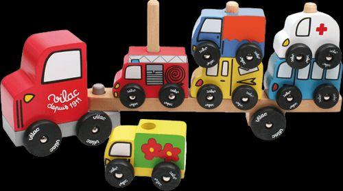 VILAC Dřevěné motorické auto nasazování