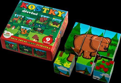 TEDDIES Kostky kubus Moje první lesní zvířátka