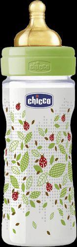 CHICCO Láhev Well-Being bez BPA kaučukový dudlík střední průtok 250 ml