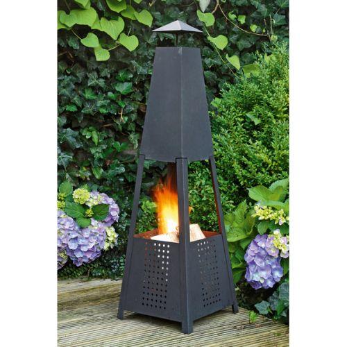 befree vysoké kovové ohniště na pálení dřeva 30 cm