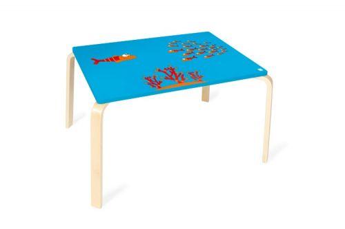 SCRATCH Dřevěný stůl Rybička