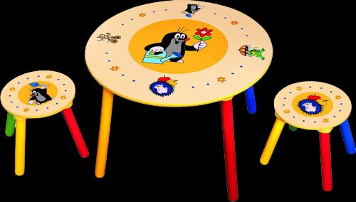 BINO set stolek a židličky Krtek