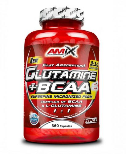 AMIX L-Glutamine + BCAA 360 kapslí