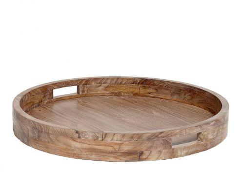 Hübsch Kulatý dřevěný podnos