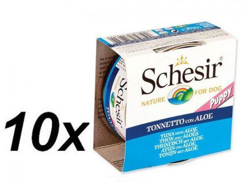 Schesir Konzerva Puppy tuňák+Aloe 10 x 150 g