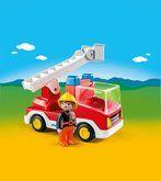 Playmobil Hasičské auto s žebříkem a košem 6967