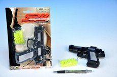 Mikro Pistole na kuličky plast s kuličkami na kartě cena od 39 Kč