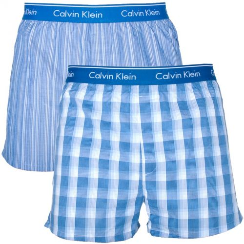 Calvin Klein Boxers Classic Fit Blue Stripes Plaid trenky
