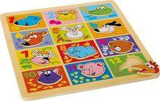 Legler Puzzle Zvířata s čísly