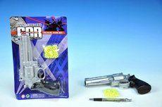 Mikro Pistole na kuličky plast 20 cm + kuličky na kartě