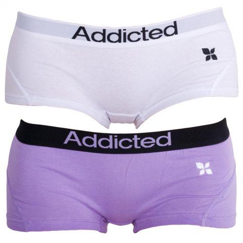 Addicted Fialová Bílá kalhotky