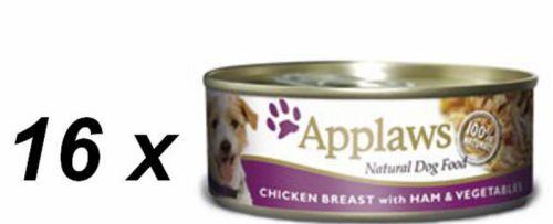 Applaws Konzerva Dog kuře, šunka a zelenina 16 x 156 g