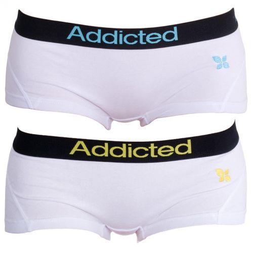 Addicted Bílá Modrá Bílá Žlutá kalhotky