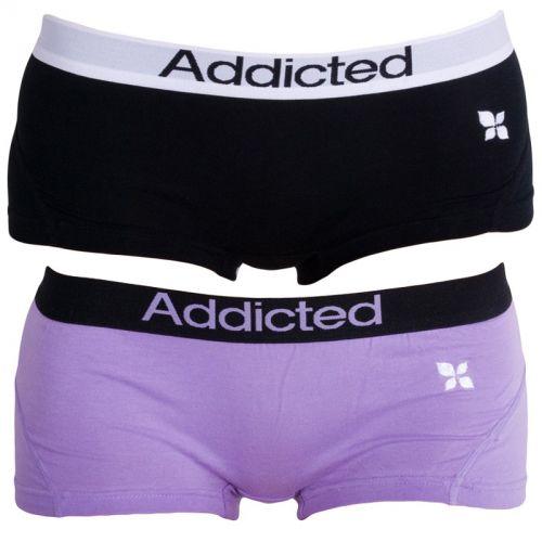 Addicted Černá Fialová kalhotky