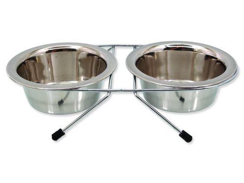 DOG FANTASY Stojánek nerezová souprava 2 x 380 ml