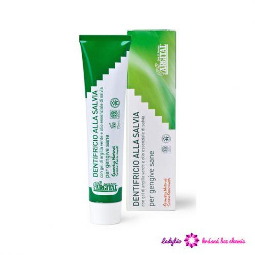 Argital Přírodní pasta na zuby se šalvějí a zeleným jílem 75 ml
