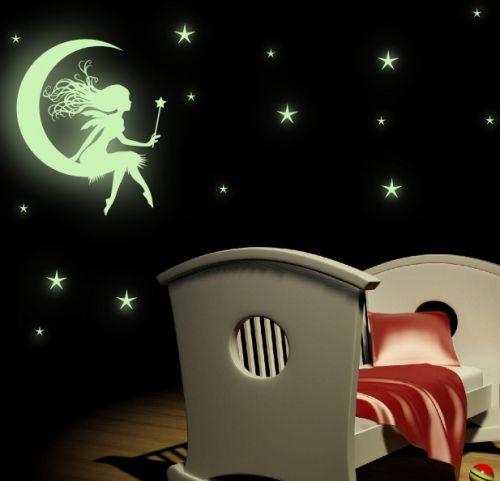 Xdecor SVÍTICÍ víla na měsíčku + hvězdy