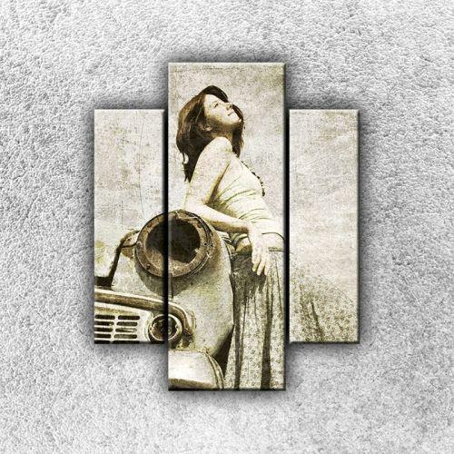 Xdecor Žena na starém autě 1