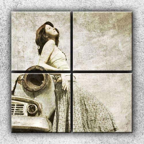 Xdecor Žena na starém autě 2