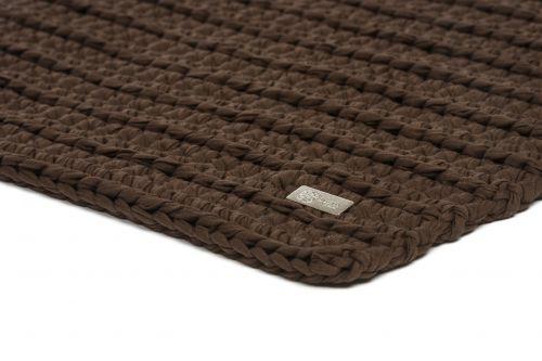 Justin Design kávový háčkovaný koberec
