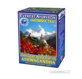 Everest Ayurveda ASHWAGANDHA himalájský bylinný čaj pro dobrý odpočinek a klidný spánek 100 g