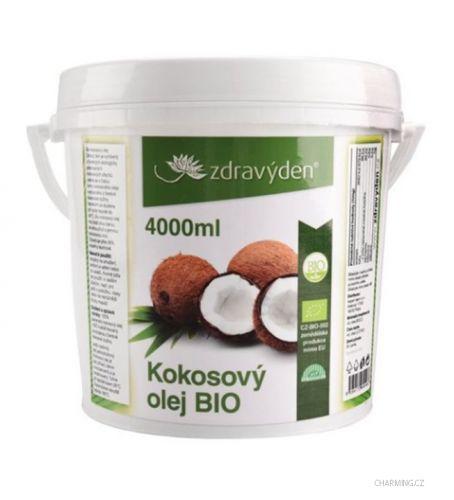 Zdravý den Kokosový olej 100% panenský BIO 4000 ml cena od 989 Kč