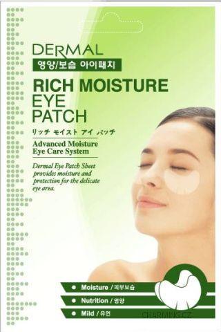 DERMAL Rich Moisture vysoce hydratační oční maska 10 párů plátků po 6 g
