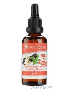 Zdravý den Stevia nekalorické roslinné sladidlo vanilka 50 ml