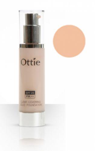 OTTIE Clear Covering tekutý ochranný make-up č.3 s dlouhotrvajícím a přirozeným efektem světle béžový 40 ml