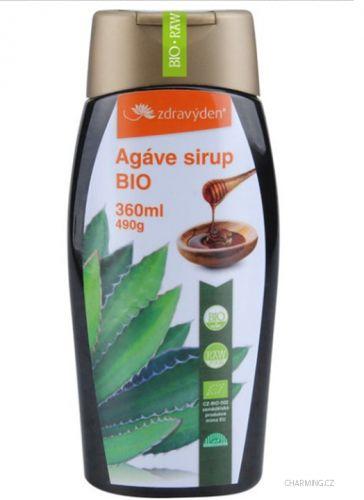 Zdravý den Agave sirup 100% zahuštěná šťáva BIO a RAW 360 ml