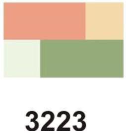 Sarangsae CORÉANA Korea Entia luxusní oční stíny 4 kombinace č.4 měnící odstín z různých úhlů pohledu 7 g