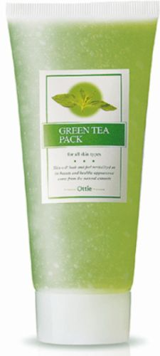 OTTIE Green Tea smývatelná pleťová maska se zeleným čajem hydratační, výživná 150 ml