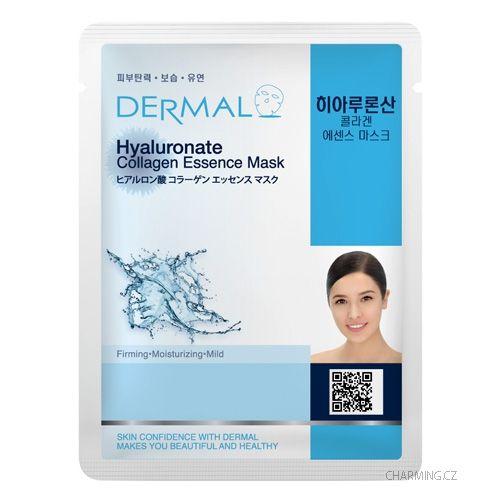 DERMAL Hyaluronate pleťová esenční maska s kolagenem a kyselinou hyaluronovou revitalizace, elasticita 10ks á 23 g