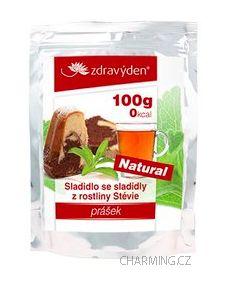 Zdravý den Stevia nekalorické přírodní rostlinné sladidlo v prášku 100 g cena od 430 Kč