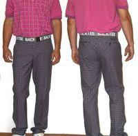 BackTee kalhoty s kostkami