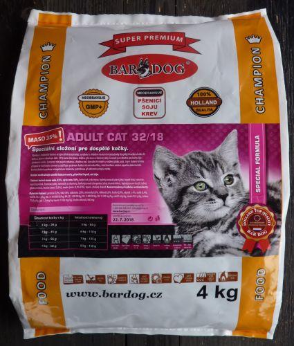 Bardog Cat Adult 32/18 super prémium 4 kg