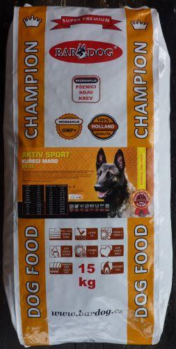 Bardog Super Prémium Aktiv Sport 32/22 15 Kg cena od 119 Kč