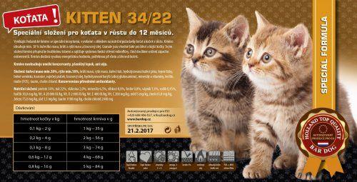 Bardog Kitten 34/22 super prémium 4 kg