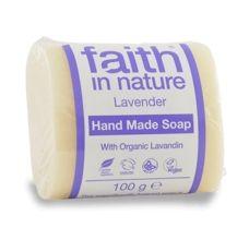Faith in Nature rostlinné tuhé mýdlo s BIO levandulí 100 g