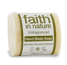 Faith in Nature rostlinné tuhé mýdlo s mořskou řasou bez parfemace 100 g