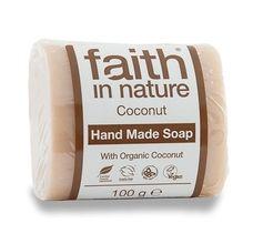 Faith in Nature rostlinné tuhé mýdlo s BIO kokosovým olejem 100 g