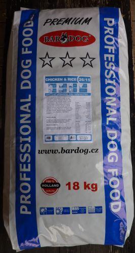 Bardog Prémium Chicken Rice 26/15 18 kg