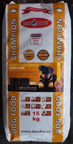Bardog Super Prémium Puppy Large Breed 28/16 15 kg