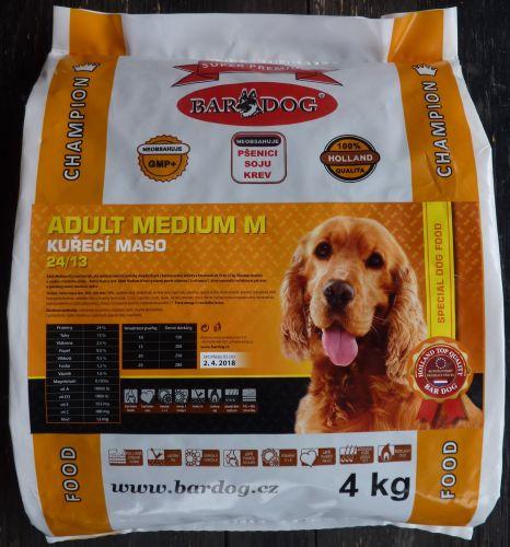 Bardog Super Prémium Adult Medium M 24/13 4 kg