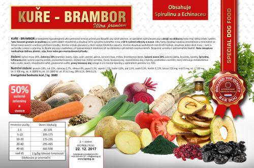 Bardog Lisované hypoalergenní krmivo Kuře brambor 24/13 12 kg