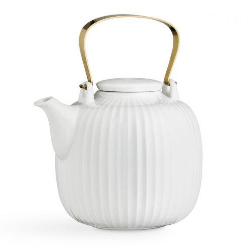 KÄHLER Porcelánová čajová konvice Hammershøi White